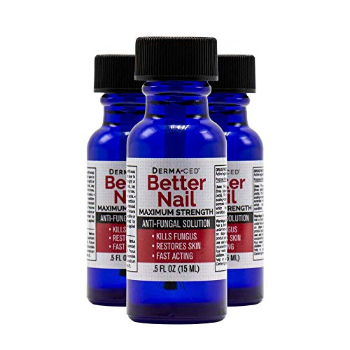 Better Nail - Maximum Strength 25% Solution for Anti Fungal Nail Support   Nail Solution for Toenail & Fingernail Fungus   .5oz or 15ml - 3Pack