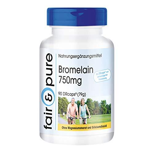 Bromélaïne 750mg, haute dose, 90 gélules, substance pure, sans additifs, végétarien