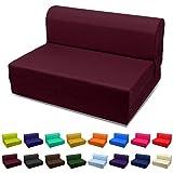 Magshion Futon Furniture Sleeper Chair Folding Foam Bed Choose Color & Sized Single,Twin or Full (Twin (5x36x70), Purple)