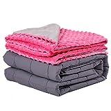 Daverose Beschwerte Decke mit Bezug, 3.2 kg 97x158cm Gewichtsdecke Kinder mit Öko-Tex®-Standard 100 Therapiedecke Anti Stress