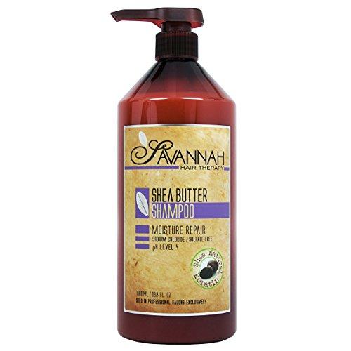 Savannah Hair Therapy Shea Butter Shampoo 33.8 fl. oz. 8 Oz Shea Butter Shampoo