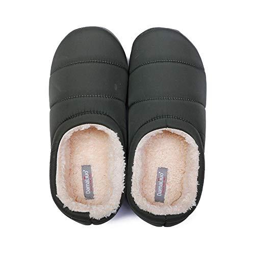 ZapatillascasaZapatillas De Invierno para Hombre, Zapatillas Cortas De Felpa Suaves para Hombre, Zapatos De Tacón Envueltos, Zapatos De Algodón Cálidos, Zapatillas para