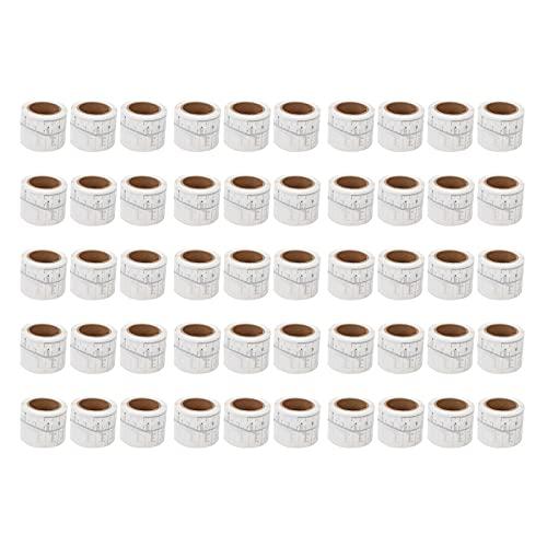 50 Pièces Règle de Sourcil Jetable Adhésif Règle de Sourcil Microblading Autocollant de Sourcil Kit de Forme de Sourcil pour Toutes les Formes de Visage