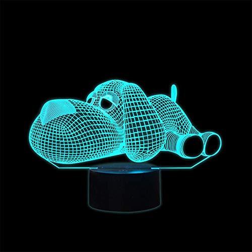 Luz nocturna 3D USB Dormitorio Decoración Iluminación Perro USB 16 Colores Sensor Lámpara de Escritorio para Amante de Deportes al aire libre Colección
