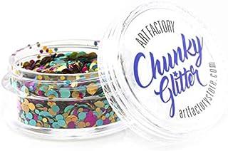 Art Factory Chunky Glitter - Unicorn Pop (10 ml), Cosmetic Grade Polyester Glitter For Face, Body, Hair