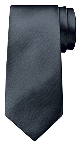 BomGuard 8 cm dunkel-grau glänzend herren-krawatte damen seide männer frauen