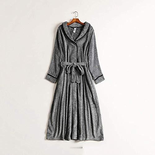 XXSHN Unisex Hombres Mujeres Batas Extra Thicken Warm Plus Large Size 125Kgs Puede Usar Fleece Albornoz Ropa de Dormir Larga y Alargada Camisón (Tamaño: XXXXXX-Large)
