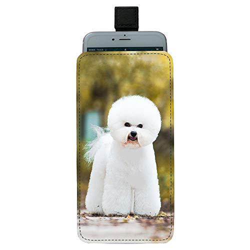Giftoyo Bichon Frise - Bolsa universal para teléfono celular