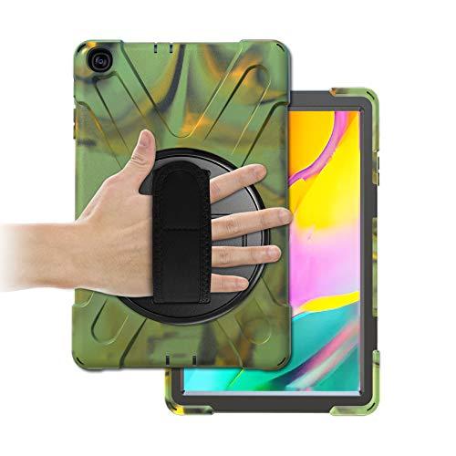 Gerutek Hulle fur Samsung Galaxy Tab A T510 T515 101 Zoll Stosfeste Robust Panzerhulle mit Drehbar Stande Handschlaufe Schultergurt Schutzhulle fur Samsung Tab A 101 2019 T510 T515 Camo