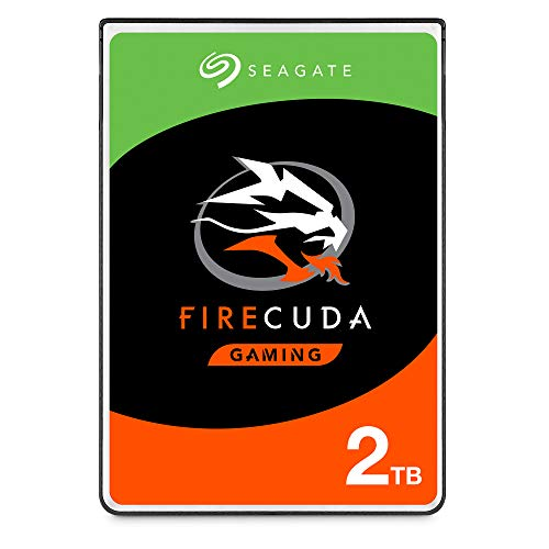 Seagate FireCuda 2 TB Solid State Hybrid Drive Performance SSHD – 2.5 Inch SATA 6 Gb/s Flash Accelerated 8 GB Cache for Gaming PC Laptop (ST2000LX001)