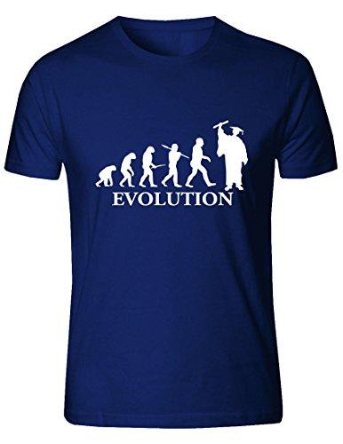 T-Shirt Evolution Laurea (per Uomo e per Donna). (Blu,...