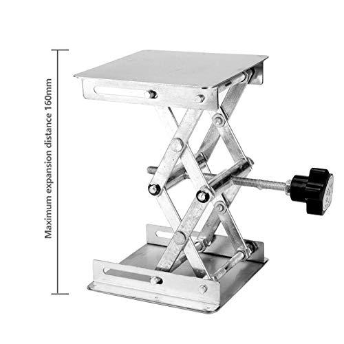 jadenzhou Bastidor Elevador de Laboratorio, Bastidor de Tijera Plataforma elevadora de Laboratorio para Camiones para remolques(Black Handle)