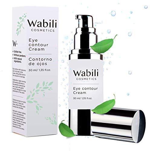 Wabili Cosmetics - Crème contour des yeux anti-rides, 30 ml | Naturelle (Avocat, Caviar, Ginseng et Quinoa) - Acide Hyaluronique - Hydratant, Anti-âge, anti-cernes et anti-poches - Sans Paraben