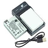 DSTE LP-E8 - Batería y cargador para cámara Canon EOS 550D, 600D, Rebel T2i, Rebel T3i (2 unidades)