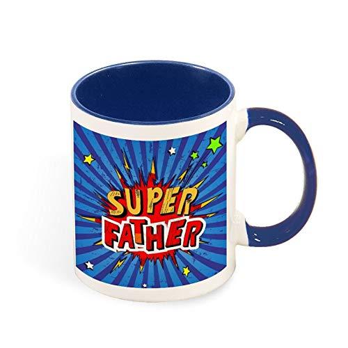 Super Padre - Regalos para padres para mujeres y hombres - Divertida idea de regalo para mamá, papá, marido, esposa - Taza de té de 325 ml