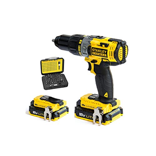 STANLEY FATMAX 18V 27.200 ipm Drill with 2 Batteries, FMCK625D2A-QW