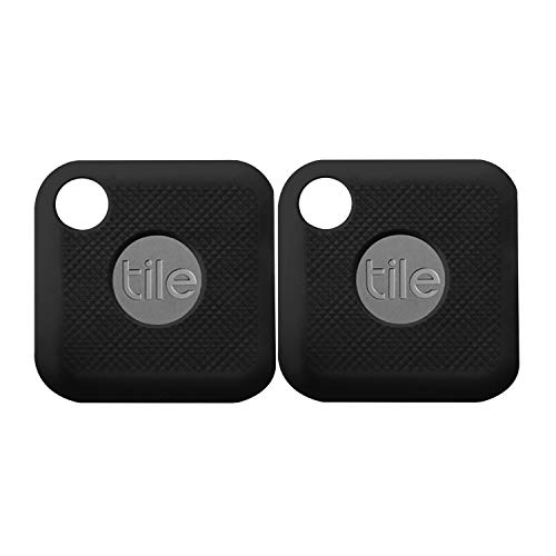 (2 Pack) Seltureone Silicone Case Compatible for New Tile Pro (2020 & 2018) with Keychain, Anti-Scratch Lightweight Soft Protective Sleeve Skin Cover (Device Not Included)-Black