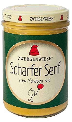 Zwergenwiese Bio Scharfer Senf, 160 ml