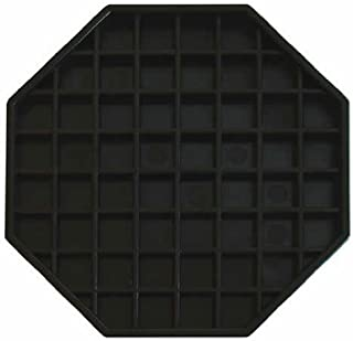 Update International DT-6X6 Octagonal Plastic Drip Tray, 6 by 6-Inch - Set of 3