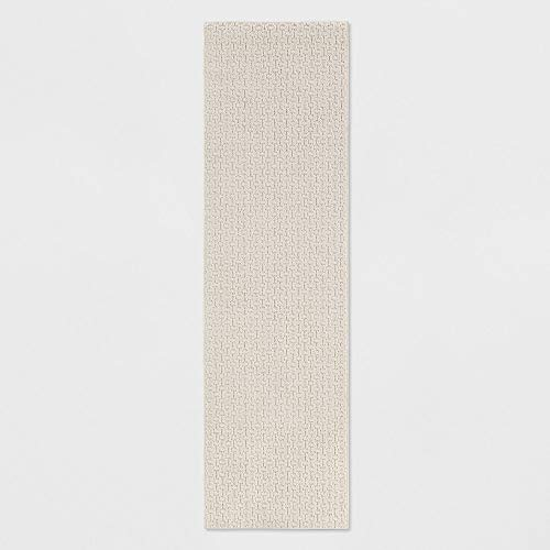 2'X7' Runner Solid Washable Rug Tan - Made By Design™