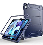 Supveco for iPad Air 4th Generation 2020 Case/for iPad Air 10.9 Case,Rugged Full-Body Hybrid Shockproof Drop Protection Cover,with Pencil Holder/Screen Protector for iPad Air 10.9' 4th Gen 2020 -Black