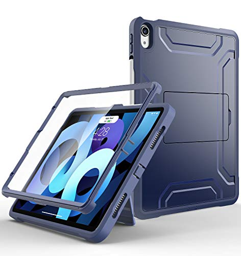 Supveco for iPad Air 4 Case/for iPad Air 4th Generation Case 2020 with Pencil Holder, for iPad 10.9 Case [Full Body Rugged] for iPad Air 10.9 Case with Built-in Screen Protector for iPad Air 4 Gen