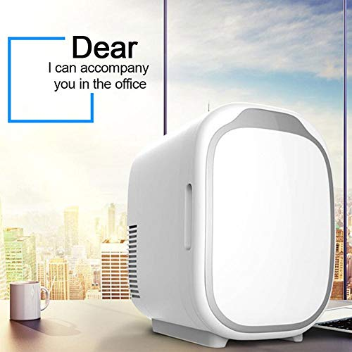LIXUDECO Mini Nevera Refrigerador de Coches 6 litros Dual Uso en frío Mini refrigerador pequeño (Color Name : White)