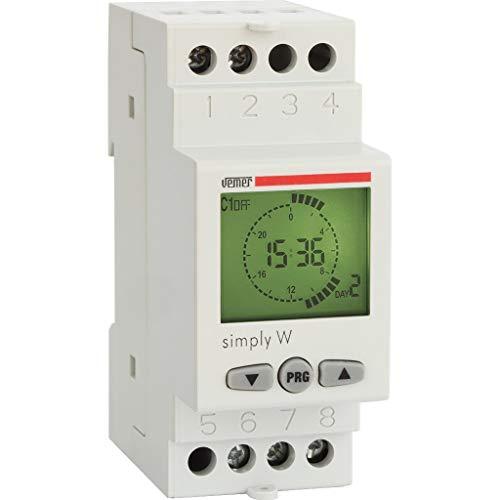 Vemer ve513800Interruptor Horario Digital simply-w, Gris claro