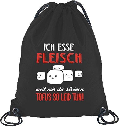 Lustiger Turnbeutel Rucksack Sport Beutel mit Kleine Tofus Motiv, Größe: onesize,Schwarz