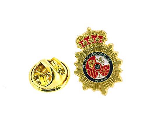 Gemelolandia     Pin de Solapa Emblema Policia Nacional Dorado Mate   Pines...