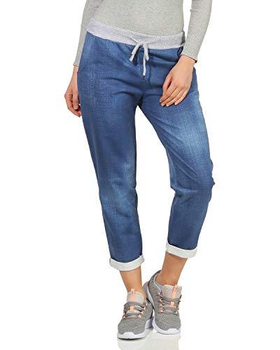 ZARMEXX Damen Sweatpants Baggy Boyfriend Sommerhose Sport All-Over Print One Size Muster 13 One Size (36-40)