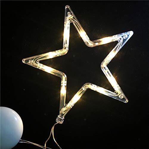 Goefly Luz de Ventosa de Navidad, lámpara de Ventosa de Ventana de...