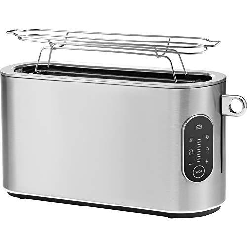 WMF Lumero Design-Toaster Langschlitz, 2er Toaster, Touch-Display, LED-Licht, Einseitiges Toasten, 1-Scheiben-Taste, 10 Bräunungsstufen, für Brotscheiben, XXL-Toast, edelstahl matt