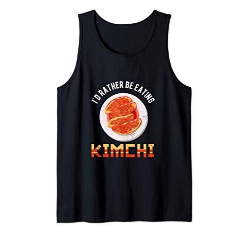 Love Kimchi South Korean Alimentos Camiseta sin Mangas