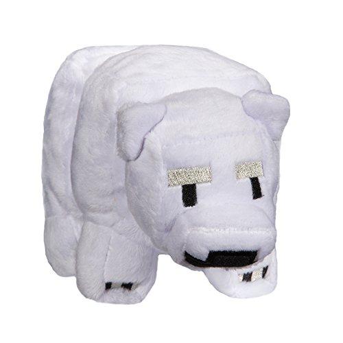 "JINX Minecraft Baby Polar Bear Plush Stuffed Toy, White, 4.5"" Tall"