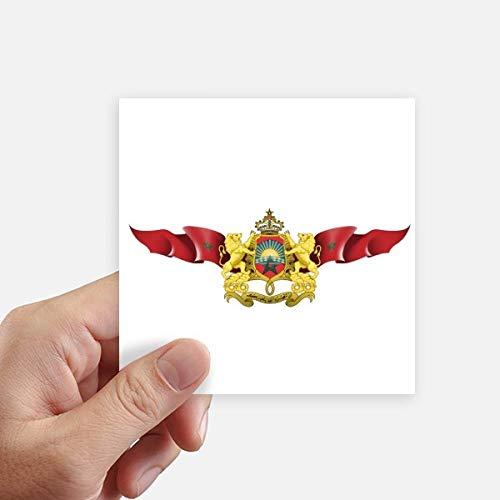 DIYthinker Marokko-Flagge National Emblem Stickers 10Cm Wand Koffer Laptop Motobike Aufkleber 8Pcs 10cm x 10cm Mehrfarbig