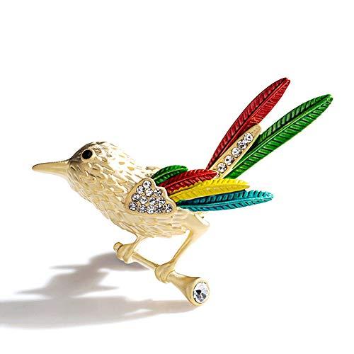 MLSJM Damas Broche, Creativas Lucky Broches del Pájaro, Pin De La Solapa Ropa Accesorios, Síntesis...