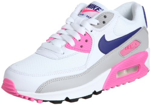 Nike Zapatillas W Air MAX 90 Essential Blanco/Morado EU 36.5 (US 6)