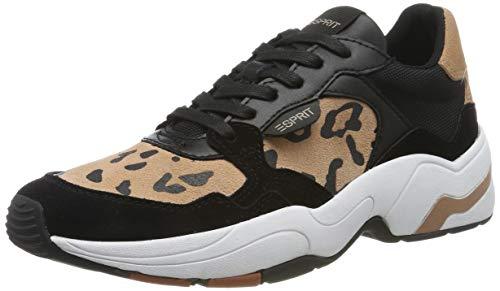 ESPRIT Damen Jana Leo LU Sneaker, Schwarz (Black 001), 39 EU