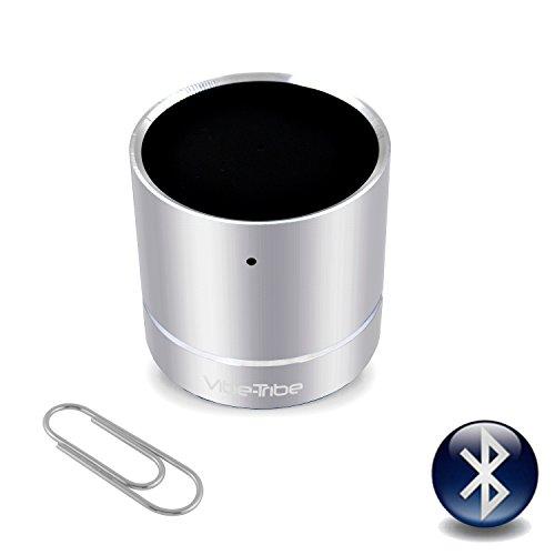 Vibe-Tribe Troll Mini - Silver: 3 Watt Bluetooth Miniature Vibration Speaker, vivavoce, suction base integrata