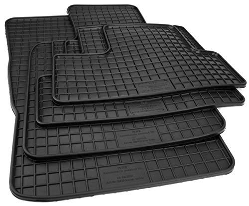 Alfombrillas de goma en Calidad felpudos 4 piezas) Negro