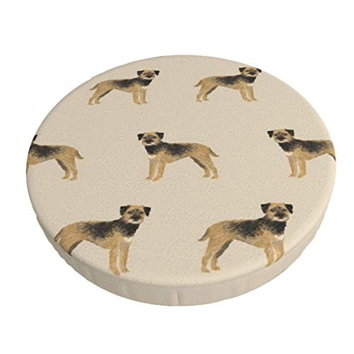 Round Bar Stools Cover,Border Terrier Hunde Hunde Border Terrier Tan,Stretch Chair Seat Bar Stool Cover Seat Cushion Slipcovers Chair Cushion Cover Round Lift Chair Stool