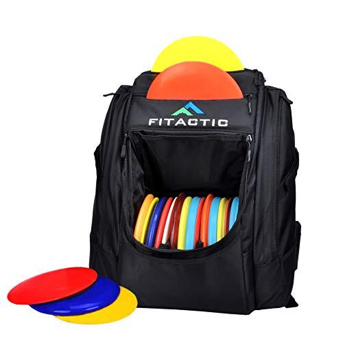 FITactic Luxury Frisbee Disc Golf Bag Backpack (Capacity: 25-30 Discs, Black)