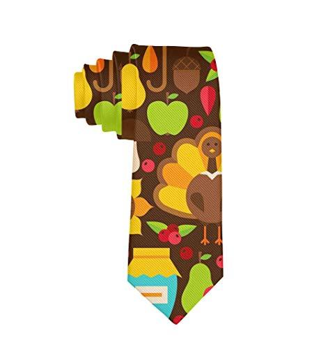 Poliéster Textil Pavo Hoja Fruta Nuez Vino Pastel de calabaza Corbata para hombres Niños Negocio Formal Traje de fiesta de boda Corbata