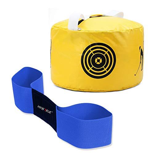 HOW TRUE Smash Bag Arm Band Combo Golf Hitting Bag Golf Impact Swing Trainer, Yellow