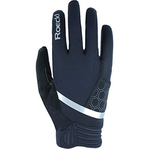 Roeckl Morgex 2021 - Guantes de ciclismo (talla 9), color negro