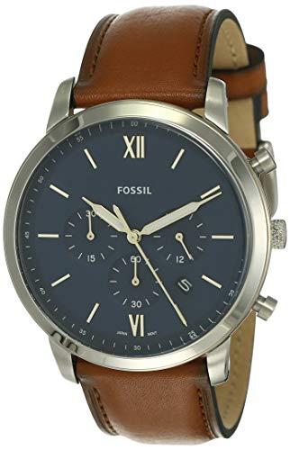 Fossil Reloj Cronógrafo para Hombre de Cuarzo con Correa en Piel FS5453