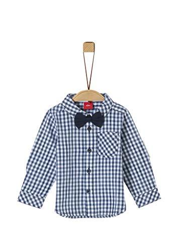 s.Oliver Baby-Jungen 59.911.21.4375 Hemd, Blau (Dark Blue Check 59n1), (Herstellergröße: 86)