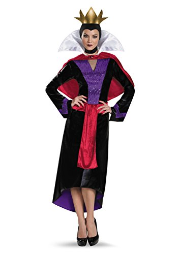 Disguise Womens Deluxe Evil Queen Costume Medium Black,red