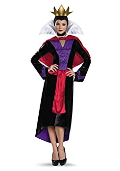 Disguise Womens Deluxe Evil Queen Costume Medium Black,red